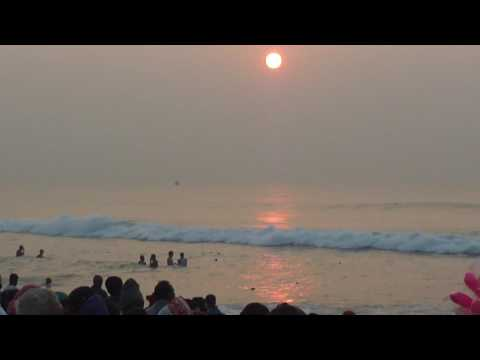 Full Sun Rise From Puri Sea Beach.....Bay Of Bengal,Odisha,India.