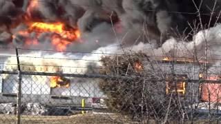 HILLSBOROUGH NEW JERSEY 5TH ALARM STRUCTURE FIRE 2/11/16 MASSIVE WAREHOUSE FIRE