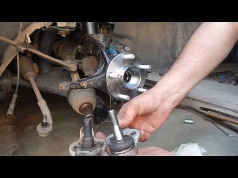 Форд Фокус 2. Замена шаровой опоры и сборка подвески.