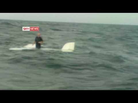 RAW: Pilot rescue from plane crash into Irish Sea