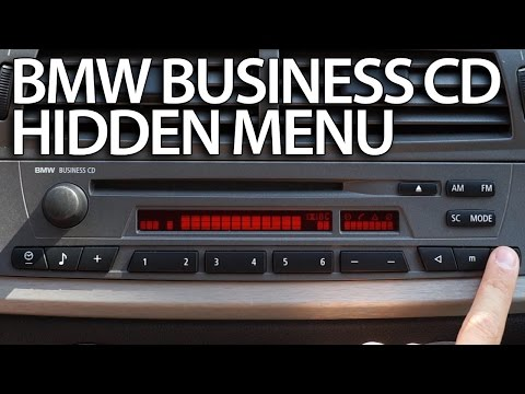 How to enter hidden menu BMW Radio Business CD (diagnostic service test mode)