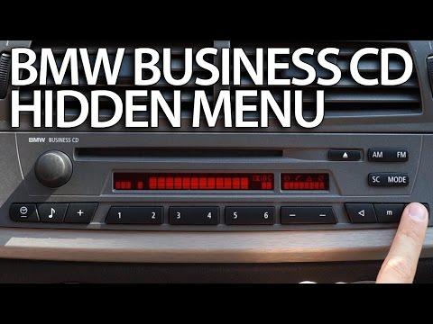 How to enter hidden menu BMW Radio Business CD (diagnostic service test mode)