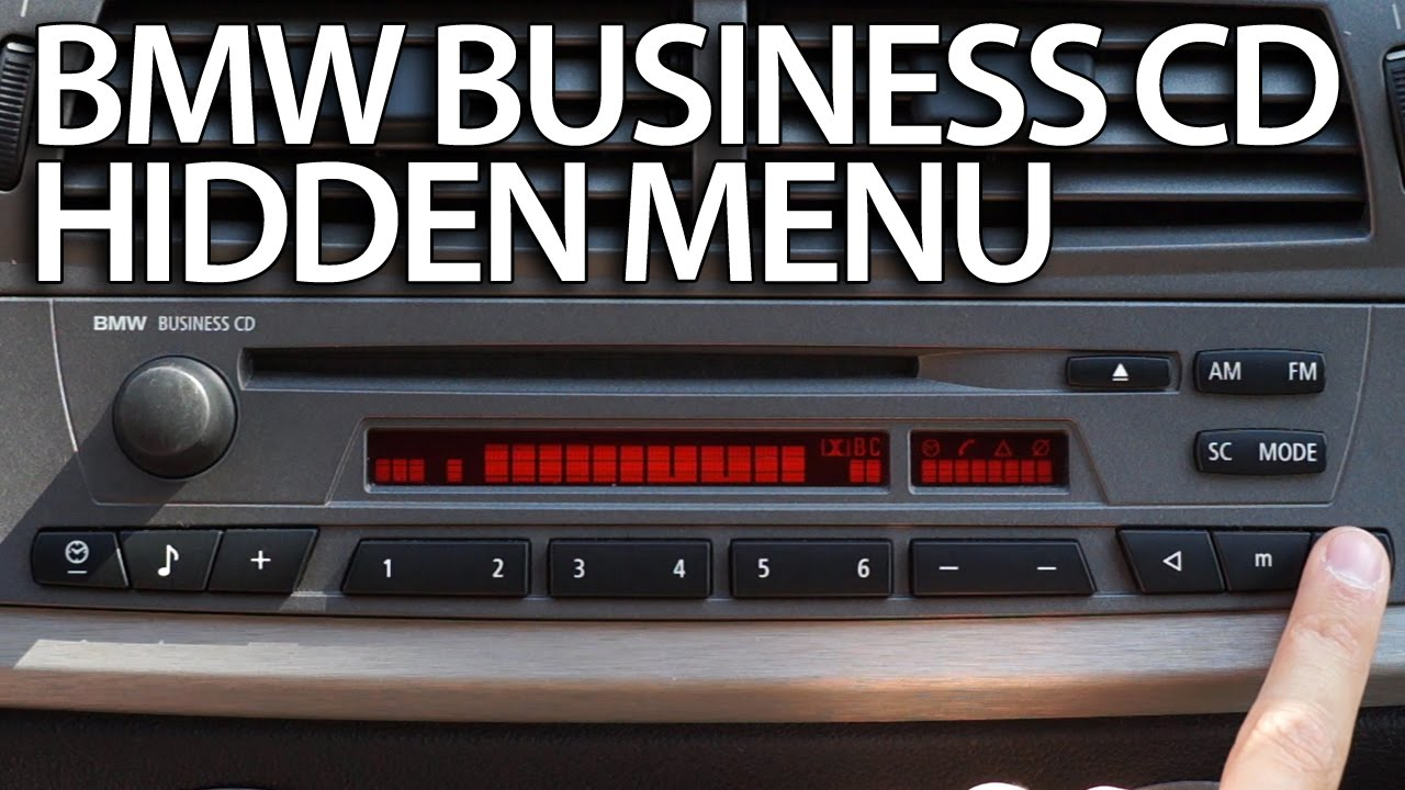 How To Enter Hidden Menu Bmw Radio Business Cd Diagnostic