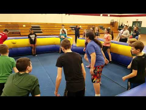 Gaga Ball at Overlook Middle School in Ashburnham, March 5, 2019