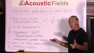 How To Get Good Bass In Small Rooms - www.AcousticFields.com