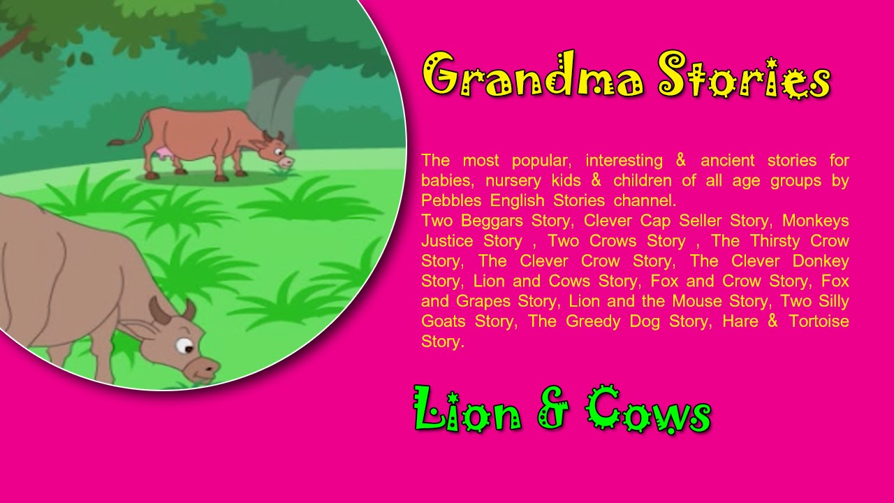 Lion Cows Grandma Stories Dadima Ki Kahaniya Popular Hindi Stories For Kids Youtube