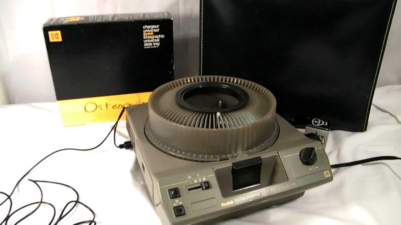 kodak ektagraphic iii slide projector w remote youtube rh youtube com