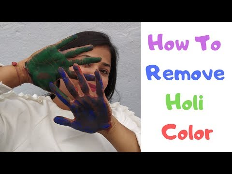 How to Remove Holi Color (Hindi)Hairs and Skin|Pre and Post Holi Preparation tips|Prachi Game Ideas