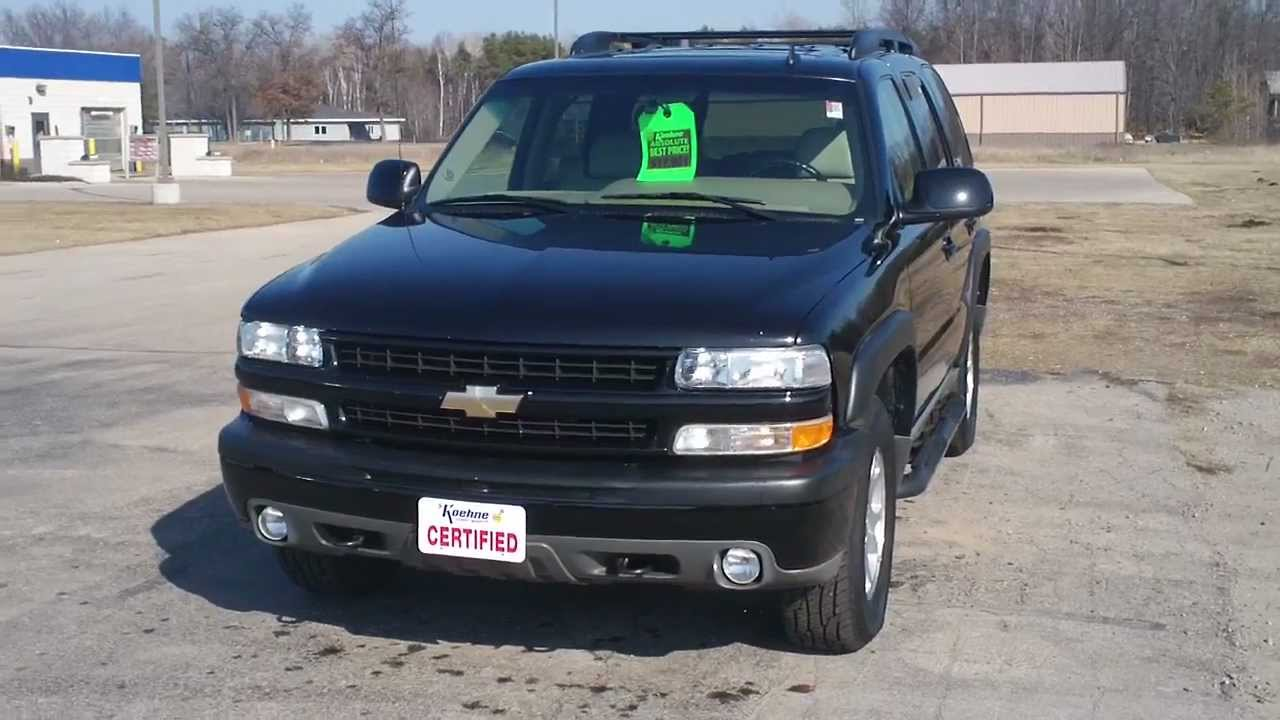 Chevy Tahoe For Sale Near Me >> 2006 Chevrolet Tahoe For Sale At Koehne Chevy Marinette Wi