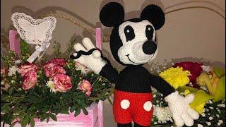 Вязаный Микки Маус крючком урок 2(мордочка)