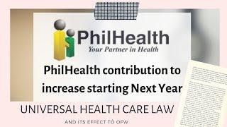Philhealth contribution para sa mga OFW (landbased) Magtataas!