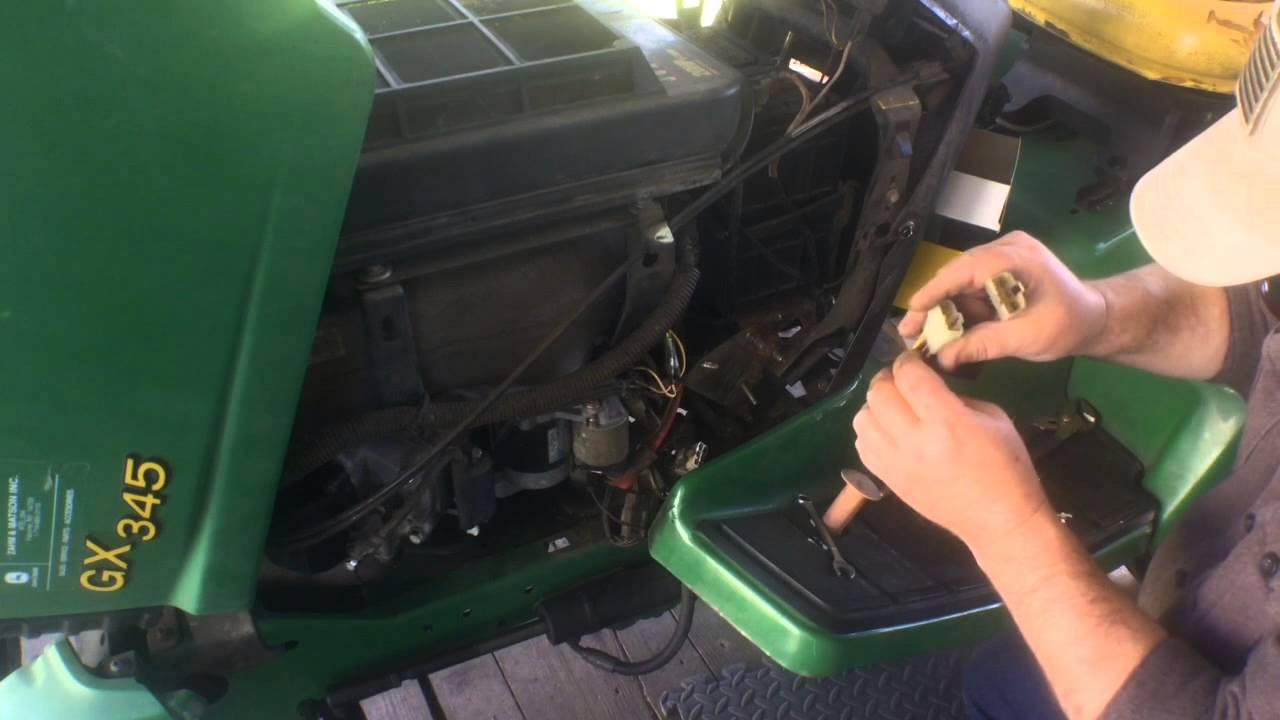 John Deere Gator Wiring Diagram John Deere Gx345 Voltage Regulator Replacement Youtube