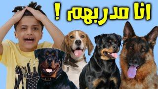 عادل يدرب كلاب صار مينون 😂 - عائلة عدنان