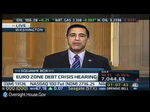 Issa on Squawk Box: What Is U.S. Plan If Dominoes Fall From European Debt Crisis?