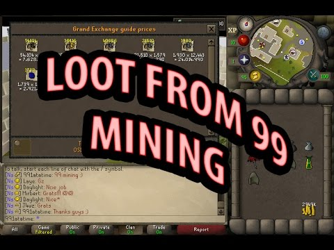 LOOT FROM 99 Mining At Motherlode Mine!!