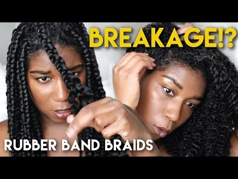 Removing Rubber Band Braids - BREAKAGE!? Naptural85