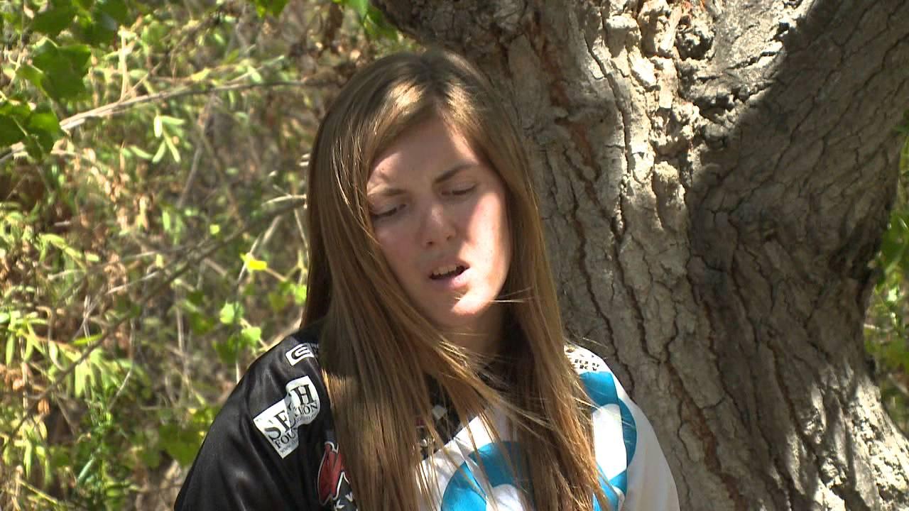 Vicky Golden and Mentor Larry Linkogle Motocross