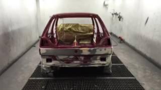Restoration 1991 VW Golf 2 MK II Porsche Modegrau