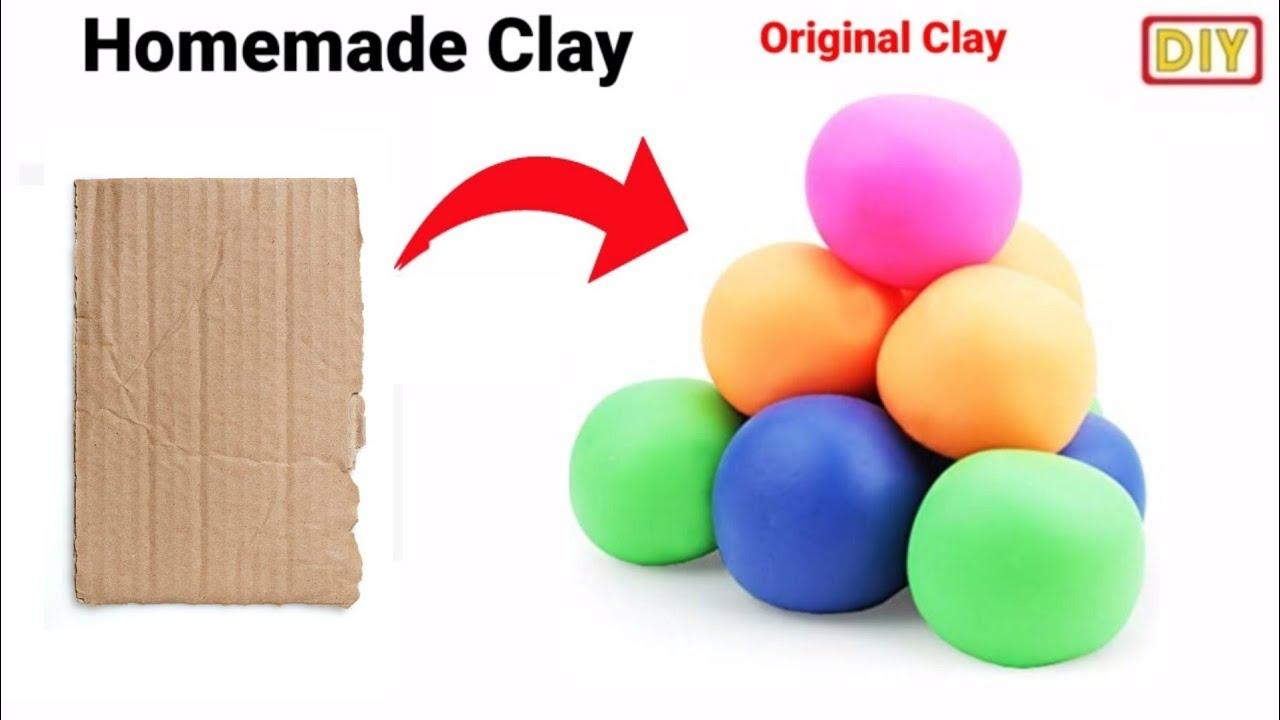 How to make clay at home /Ganesh making clay at home easy/homemade clay /Ganesh making process/#clay