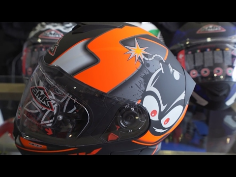 SMK TWISTER Helmet Unboxing || PIN Lock || ECE certified ||