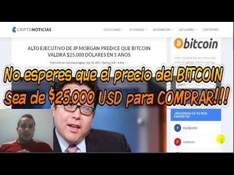 BITCOIN a $25.000 USD según la Banca, No espere ese precio para COMPRAR!!!