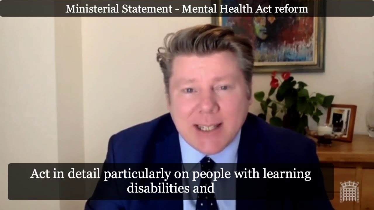 Ministerial Statement - Mental Health Act reform