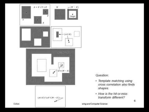 EENG 510 Lecture 12-1 Morphological Algorithms