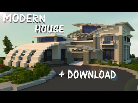 Minecraft modern house 1 7 jar9 youtube for Modern house schematic