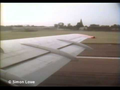 Dan-Air London BAC One Eleven  Take-off (wing view)