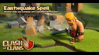 Clash of Clans - New Update! Dark Spell #2: Earthquake Spell Gameplay (Sneak Peek)