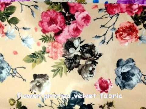 flower printing velvet fabric