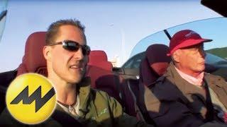 Michael Schumacher wird von Niki Lauda interviewt - Formel 1 thumbnail