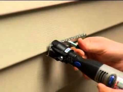 Cutting Vinyl Siding With A Dremel Rotary Tool Youtube
