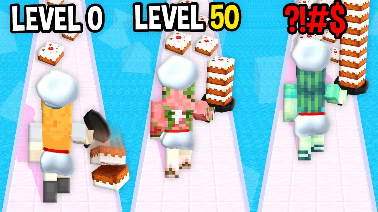 Monster School: Chef Flipper GamePlay Mobile Game Max Level LVL Noob Pro Hacker Minecraft Animation
