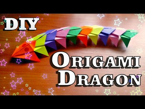 DIY How To Make Paper Dragon ✔ Easy Origami Tutorial For Beginners. Craft Instructions For Children