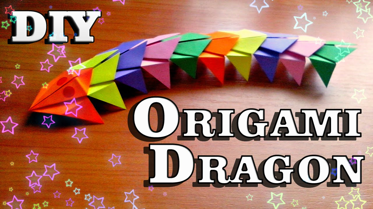 Diy How To Make Paper Dragon Easy Origami Tutorial For Beginners Craft Instructions For Children