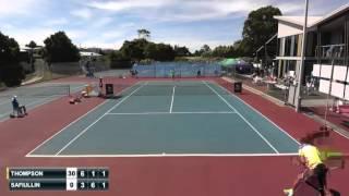 Burnie 2015: Jordan Thompson (AUS) vs Roman Safiullin (RUS)