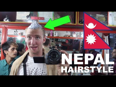 AMERICANS visit NEPAL and get Nepali HairDye!