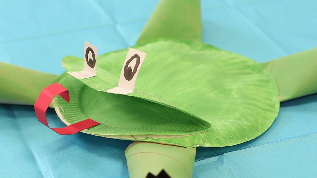 playtime crafts paper plate frog youtube