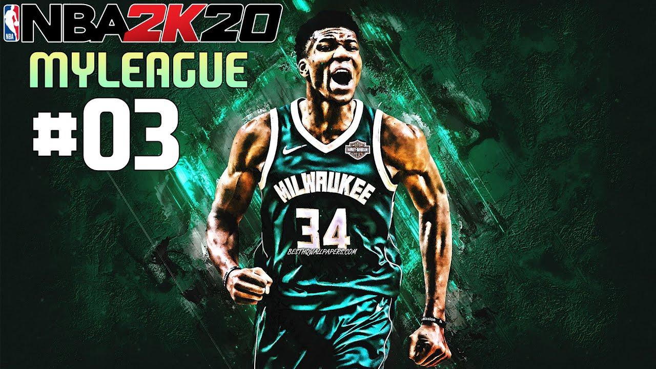 Zagrajmy w NBA 2K20   MyLeague 2   odc. 3   Czy ktoś go powstrzyma? Co to jest za kocur!?