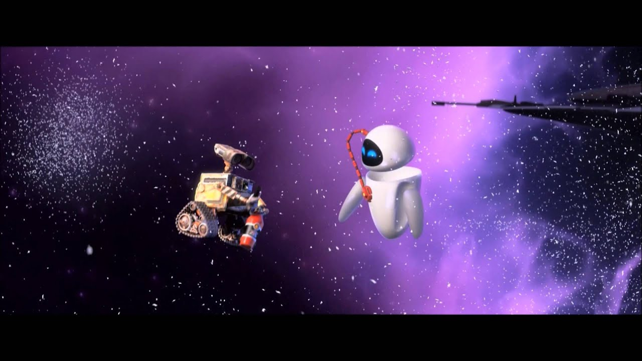wall-e and eva kiss - youtube