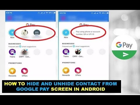 How to Hide and Unhide Contact From Google Pay Screen In Android