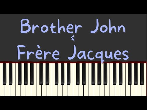 Brother John and Frère Jacques easy piano tutorial