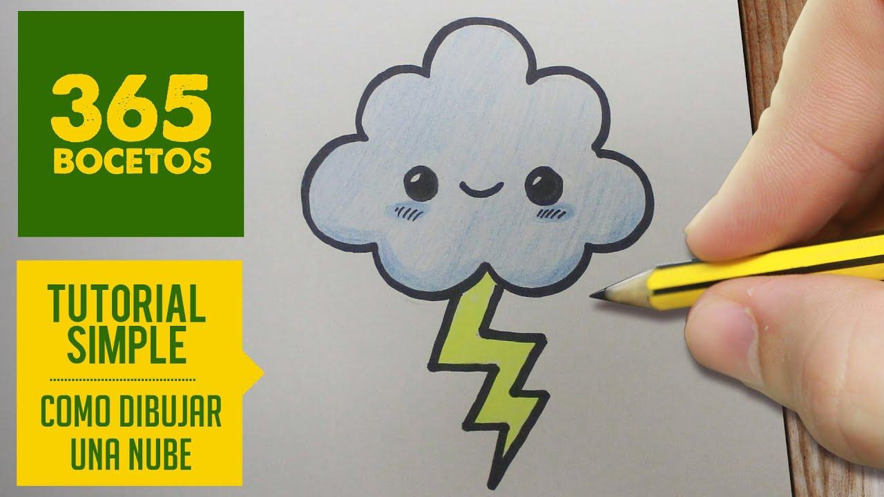 Como Dibujar Una Nube Kawaii Paso A Paso Dibujos Kawaii Faciles