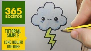 COMO DIBUJAR UNA NUBE KAWAII PASO A PASO - Dibujos kawaii faciles - How to draw a Cloud
