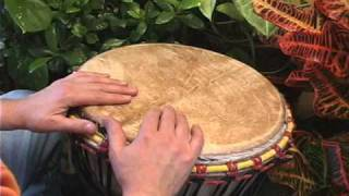 Funky djembe pattern for contemporary music