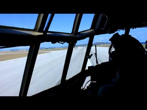 C-130 LANDING AT GUANTANAMO BAY CUBA IN High Def
