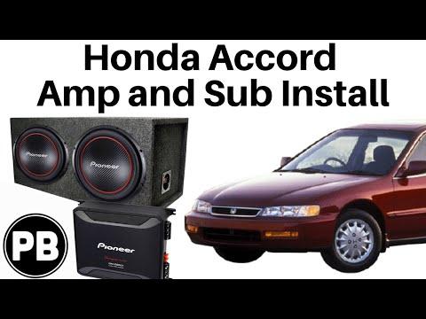 1994 - 1997 Honda Accord Pioneer Sub and Amp Install - YouTube