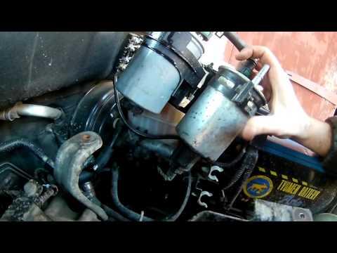 Правильная замена топливного фильтра на дизельном Кайроне  .