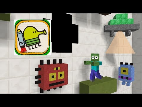 Monster School : Doodle Jump - Minecraft Animation